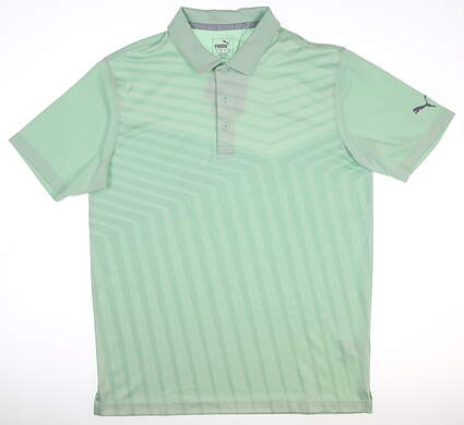 New Mens Puma Alterknit Reflection Polo Medium Mist Green MSRP $75 595777 01