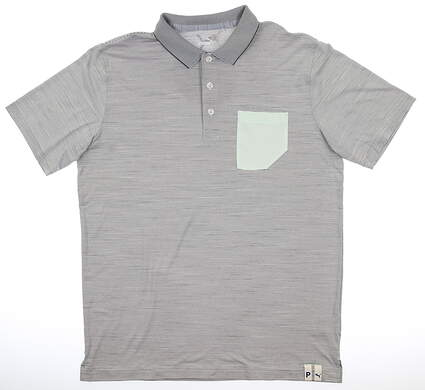 New Mens Puma Champions Polo Medium M Quiet Shade MSRP $70 595787 06