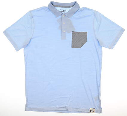 New Mens Puma Champions Polo Medium M Blue Bell MSRP $70 595787 02