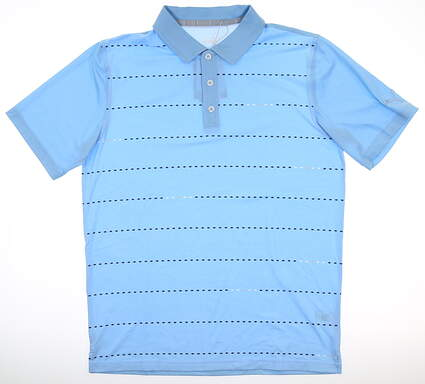 New Mens Puma Fusion Dot Polo Medium M Blue Bell MSRP $70 595790 01