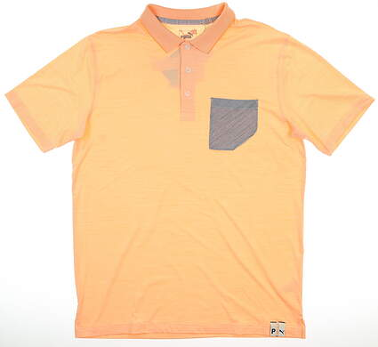 New Mens Puma Champions Polo Medium M Cantaloupe MSRP $70 595787 01