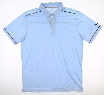 New Mens Puma Rancho Polo Medium M Blue Bell MSRP $65 595783 02
