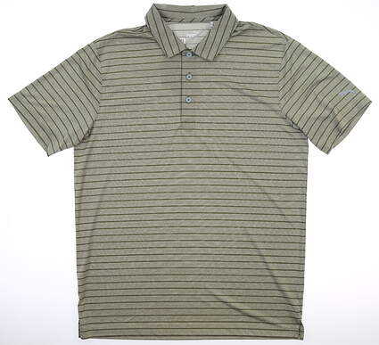 New Mens Puma Rotation Stripe Polo Medium M Deep Lichen Green MSRP $60 577974 22
