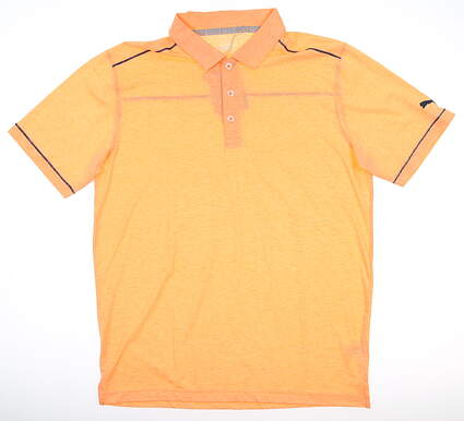 New Mens Puma Rancho Polo Medium M Cantaloupe MSRP $65 595783 01