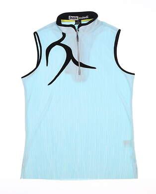 New Womens Jamie Sadock Crunch Sleeveless Golf Polo Medium M Cosmic MSRP $103