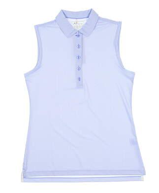 New Womens Peter Millar Sleeveless Golf Polo Small S Blue LS19EK02SF MSRP $87