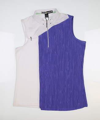 New Womens Jamie Sadock Sleeveless Golf Polo Large L Multi MSRP $103