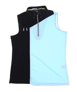 New Womens Jamie Sadock Sleeveless Golf Polo Medium M Multi 91201 MSRP $103