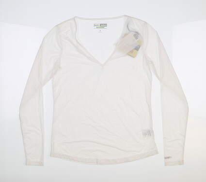New Womens Jamie Sadock Sunsense Long Sleeve Small S White 61127 MSRP $59