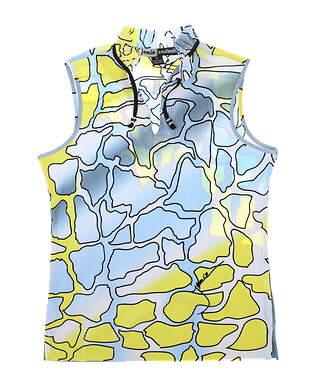 New Womens Jamie Sadock Spring Camo Sleeveless Polo Medium M Multi MSRP $103