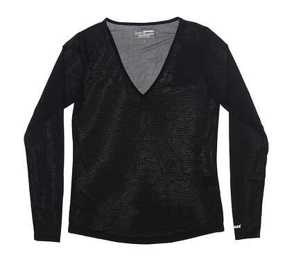 New Womens Jamie Sadock Sunsense Long Sleeve Small S Black 61127 MSRP $60