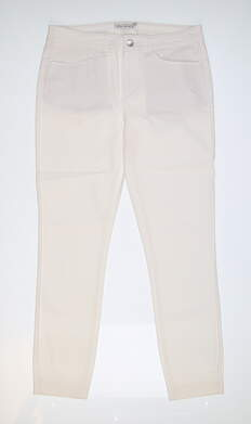 New Womens Peter Millar Karlie Twill Pants 8 White LS19B46 MSRP $114