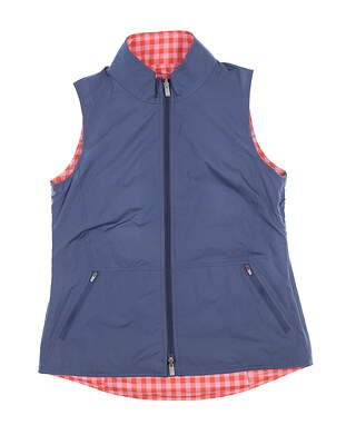 New Womens Peter Millar Reversible Golf Vest Large L Multi LS18EZ01A MSRP $130
