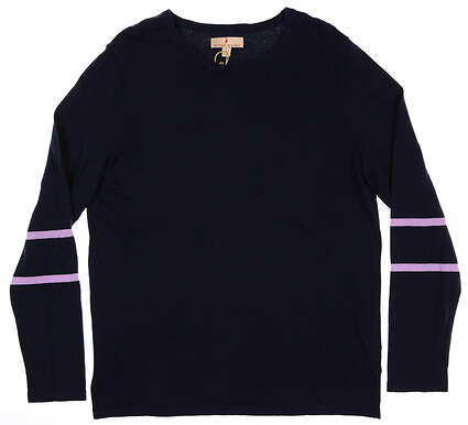 New Womens Sport Haley Sweater Large L Navy/ Purple MSRP $89 H19212KM