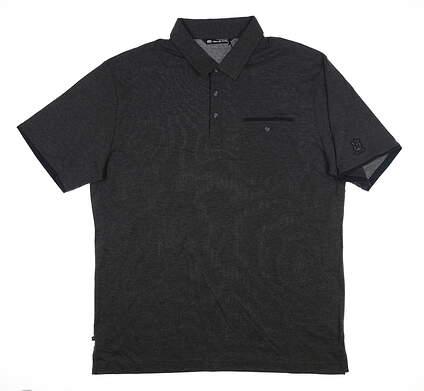 New W/ Logo Mens Travis Mathew P-Shizzle Polo X-Large XL Black 1MQ028 MSRP $92