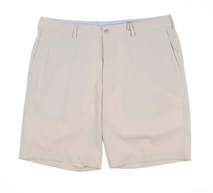 New Mens Peter Millar High Drape Golf Shorts 36 Stone ME0EB82 MSRP $89