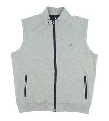New W/ Logo Mens Fairway & Greene Full Zip Vest X-Large XL Gray MSRP $110 J31520