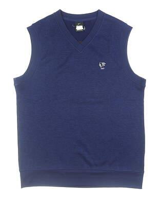 New W/ Logo Mens Nike Sweater Vest X-Large XL Navy Blue MSRP $80 AV5225