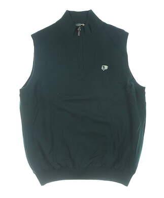 New W/ Logo Mens Fairway & Greene Golf Sweater Vest Large L Green MSRP $150 04116