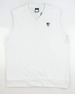 New W/ Logo Mens Nike Sweater Vest X-Large XL Gray MSRP $80 AV5225