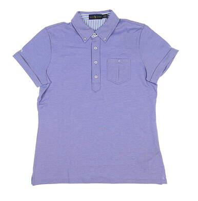 New Womens Ralph Lauren Golf Polo Medium M Blue MSRP $98