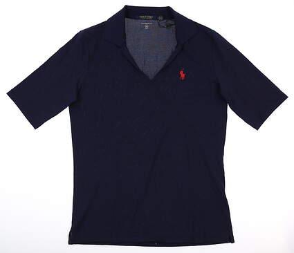 New Womens Ralph Lauren Polo Large L Navy Blue MSRP $75