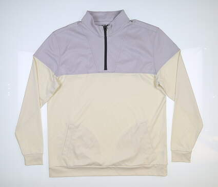 New Mens MATTE GREY Contra 1/2 Zip Golf Pullover Large L Salt MSRP $150