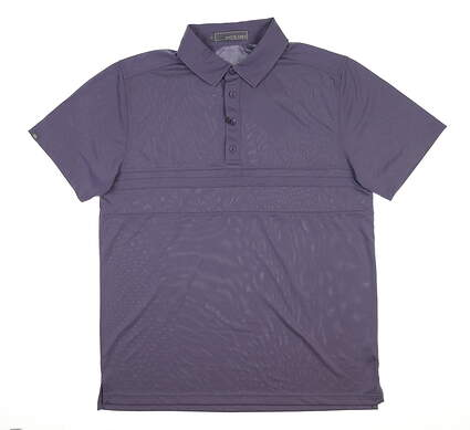 New Mens MATTE GREY Anders Golf Polo Large L Raisin MSRP $80