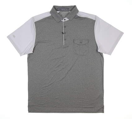 New Mens MATTE GREY Hardball Polo Large L Gray MSRP $70