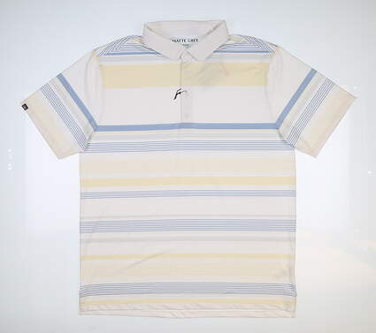 New Mens MATTE GREY Conway Golf Polo Large L Multi MSRP $70