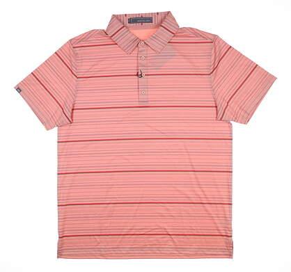 New Mens MATTE GREY Polo Large L Orange MSRP $70