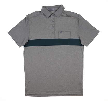 New Mens MATTE GREY Gavin Golf Polo Medium M Gray MSRP $70