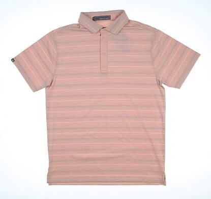 New Mens MATTE GREY Golf Polo Medium M Orange MSRP $70
