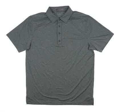 New Mens MATTE GREY Captain Golf Polo Medium M Pine MSRP $75