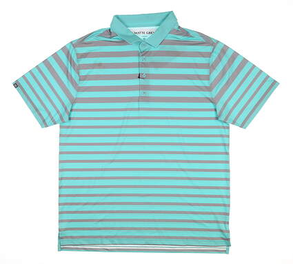 New Mens MATTE GREY Fade Golf Polo Large L Tortoise MSRP $75