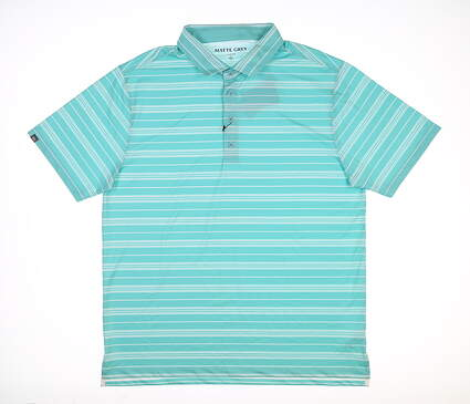 New Mens MATTE GREY Constant Golf Polo Large L Tortoise MSRP $70
