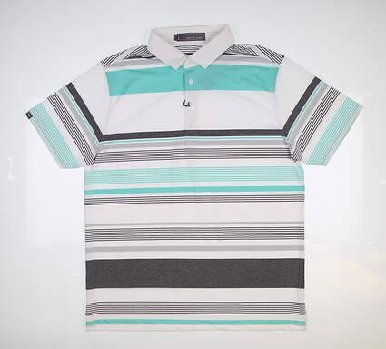 New Mens MATTE GREY Golf Polo Large L Multi MSRP $70