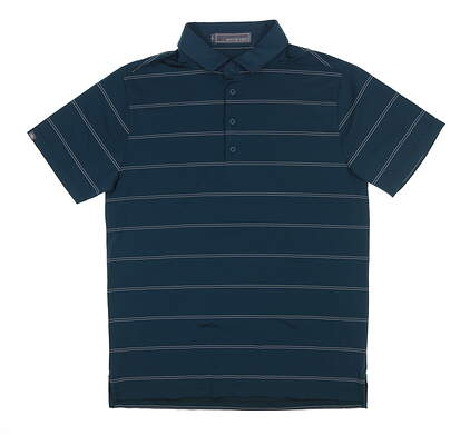 New Mens MATTE GREY Golf Polo Medium M Green MSRP $70