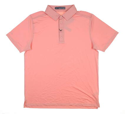 New Mens MATTE GREY Captain Golf Polo Large L Coral MSRP $75