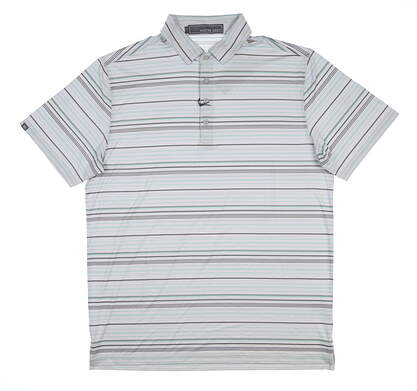 New Mens MATTE GREY Golf Polo Large L Gray MSRP $70