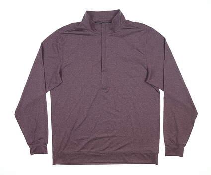 New Mens MATTE GREY Hightower 1/2 Zip Golf Pullover Medium M Purple MSRP $85