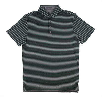 New Mens MATTE GREY Reed Golf Polo Medium M Green MSRP $70