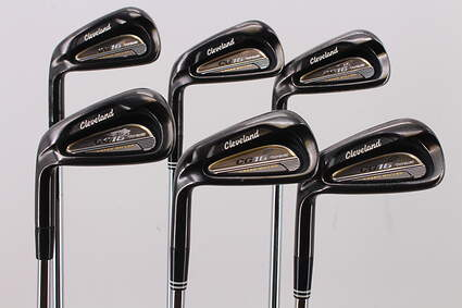 Cleveland CG16 Tour Black Pearl Iron Set 5-PW FST KBS Tour Steel Stiff Left Handed 38.25in
