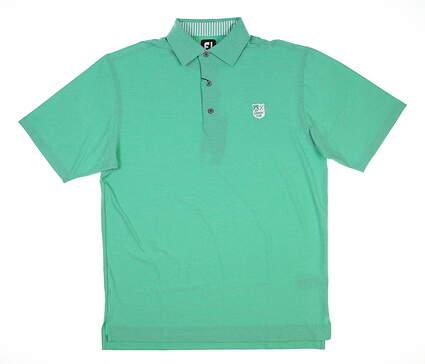 New W/ Logo Mens Footjoy Golf Polo Medium M Spearmint 25788 MSRP $90