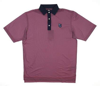 New W/ Logo Mens Footjoy Lisle Golf Polo Medium M Multi 25731 MSRP $90