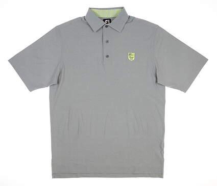 New W/ Logo Mens Footjoy Golf Polo Medium M Gray MSRP $90