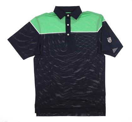 New W/ Logo Mens Footjoy Golf Polo Small S Navy Blue 25541 MSRP $90