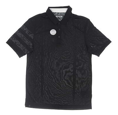 New Mens Adidas Golf Polo Small S Black MSRP $80 AE1053