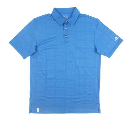 New Mens Adidas Golf Polo Small S Blue MSRP $70 B83002