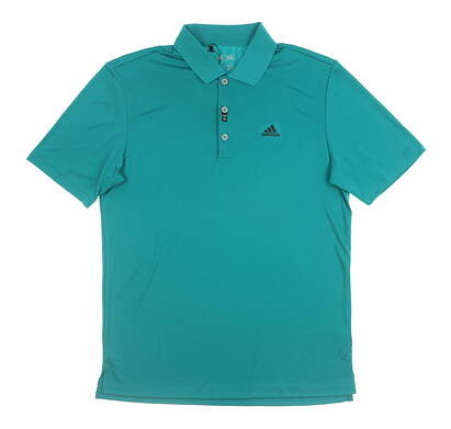 New Mens Adidas Golf Polo Small S Green MSRP $50 AE4758